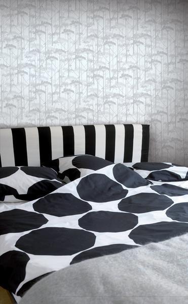 Marimekko Marimekko  Putkinotko Wallpaper Grey/Grey - KIITOSlife - 2