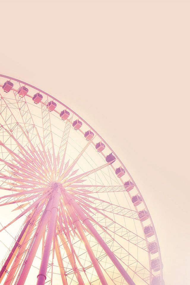 Pink Ferris wheel wallpaper