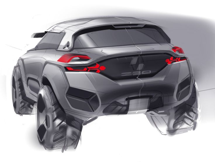 Sketch made by A. Shamenkov - #Designer. Relive the #Design birth of the #Renault #Kwid #conceptcar. (c) Droits réservés Renault