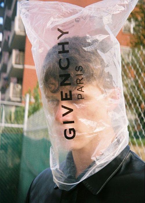 Givenchy plastic bag.