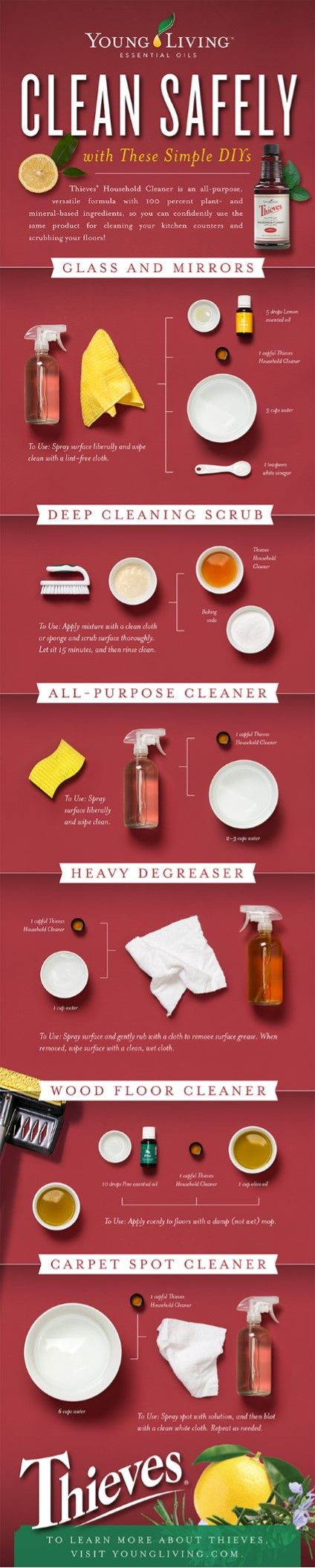 Enroller/sponsor id 1239597  Clean Safely with Young Living - Thieves Household Cleaner