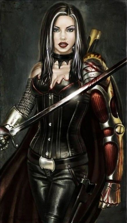 Dark Warrior Woman Art...