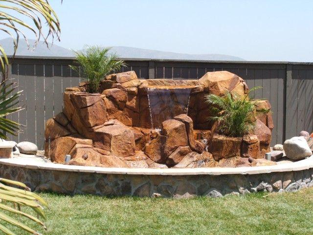artificial rock waterfalls landscapes