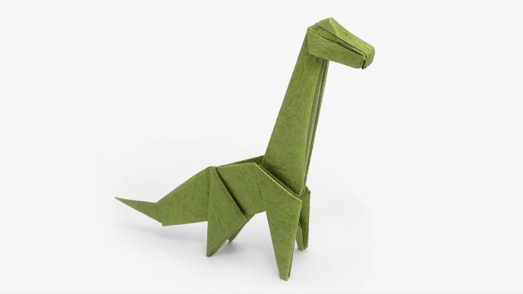 Origami de Braquiossauro (Jo Nakashima) - Dinossauro #4