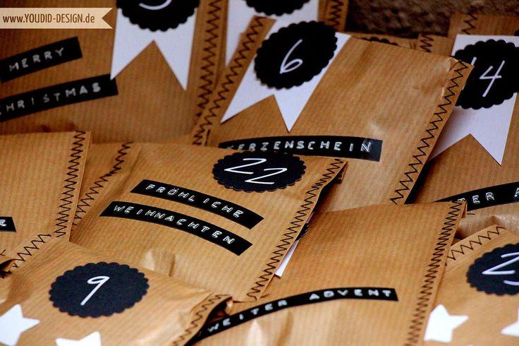 die besten 25 adventskalender t ten ideen auf pinterest diy adventskalender t ten. Black Bedroom Furniture Sets. Home Design Ideas