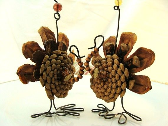 Thanksgiving  place card holders.  Found them on Etsy.  Super creative!