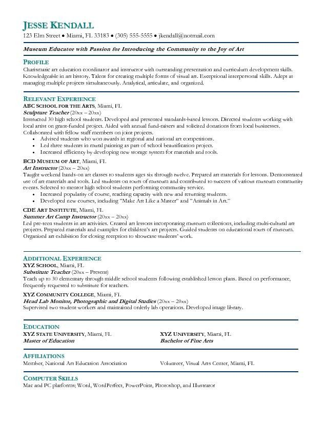 The Best Artist Resume Template Check More At Http Sktrnhorn Co Artist Resume Template Teacher Resume Examples Teacher Resume Teaching Resume
