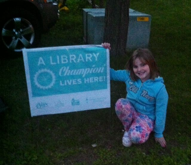 A big shout-out to Emily from Oshawa! Congratulations, you're a Library Champion now!  We knew you could do it, keep up the great work!