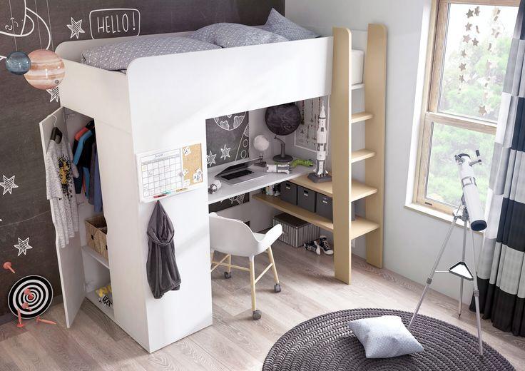 Nowość! Multifunkcyjne łóżko piętrowe TOM! 3w1: wygodna strefa do nauki, komfortowe spanie i pojemna szafa / novelty! Multifunctional bunk bed TOM! 3in1: convenient desk, comfortable sleeping and spacious wardrobe #lozkopietrowe #bunkbed #tom #meble #furniture #kidsroom #pokojdziecka #dignetlenart #dignet #wardrobe #desk #szafa #biurko  #novelty #newarrival #nowosc