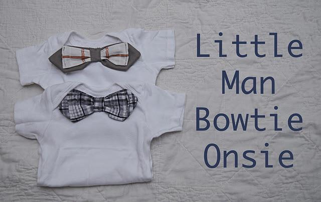Bowtie Onsies--so easy! (baby Trey)