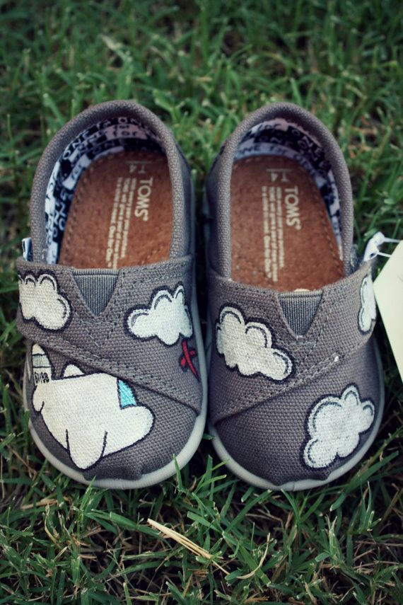 Custom Airplane TOMS  Toddler by ibleedheART on Etsy, $50.00