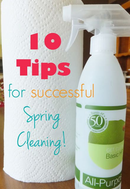 10 Tips For A Successful Spring Cleaning...So You Don't Quit Before You Start!