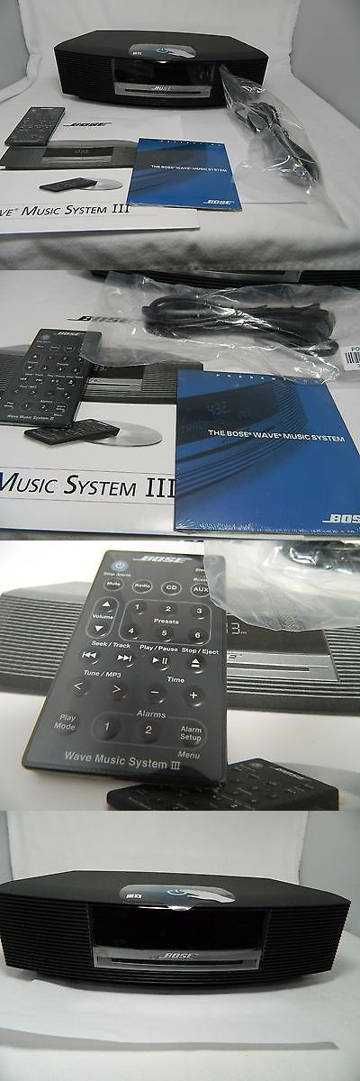 Stereo Component Combos: Bose Wave Music System Iii W/ Cd,Dual Alarm,Touch Control. Remote Graphite Grey BUY IT NOW ONLY: $350.0