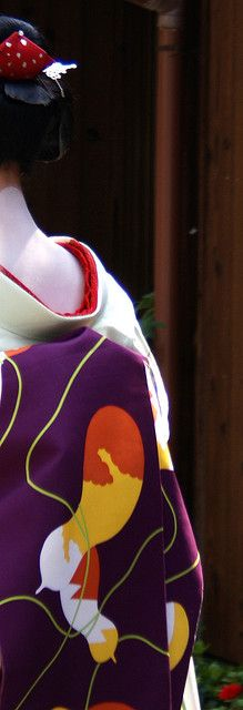 """Maiko's obi. Photo: """"Mameteru"""" by fuyou-hime on Flickr."""