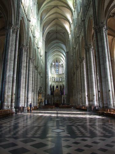 nef de la cathédrale d'Amiens, Somme, Picardie