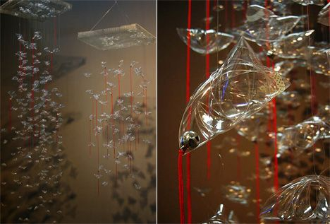 Recycled Plastic PET Bottle Lights by Lisa Foo & Su Sim