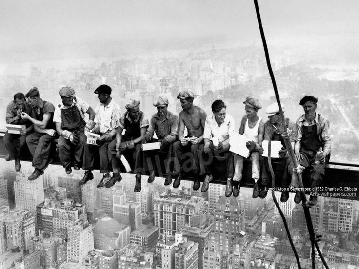 Historic Moments Photographs Cultura Inquieta Fotografias historicas - Almuerzo en lo alto de un rascacielos