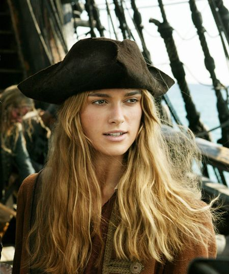 Kierra Knightly- Elizabeth Swan, The Pirates of The Caribbean                                                                                                                                                                                 More