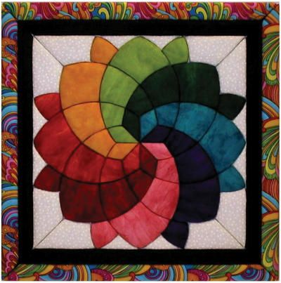 Blossom #Quilt Magic Kit - looks like stained glass! 12 x12 $19.38