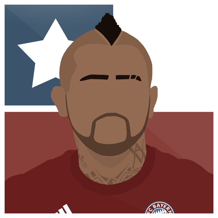 Vidal   #Bayern #FCB #Munchen #FCBayern #Arturo #Vidal #Chile #Futbol #Juventus #Santiago #Football #Sport #Bundesliga #Germany #UCL #Design #Vector #Art #Graphic #Illustrator #Photoshop