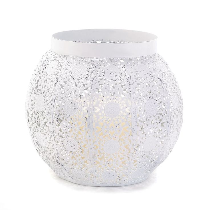 New White Lace Design Candleholder Shabby Decor Weddings Table Centerpiece  #Unbranded