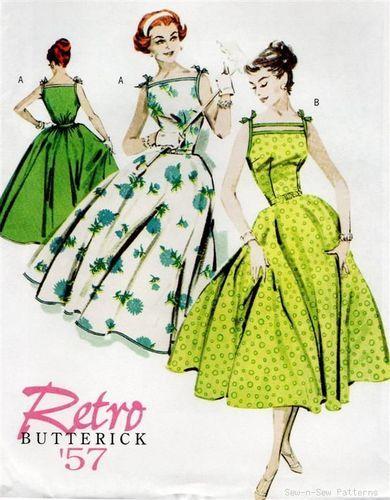 Watching Mad Men has inspired me. I love Betty's dresses! Vintage/Retro 50's Dress PATTERN Rockabilly/Swing Dance |