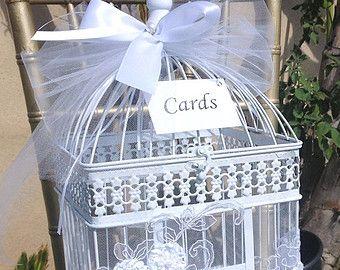 Birdcage Card Holder Shabby Chic Birdcage от LuckyYouLuckyMe
