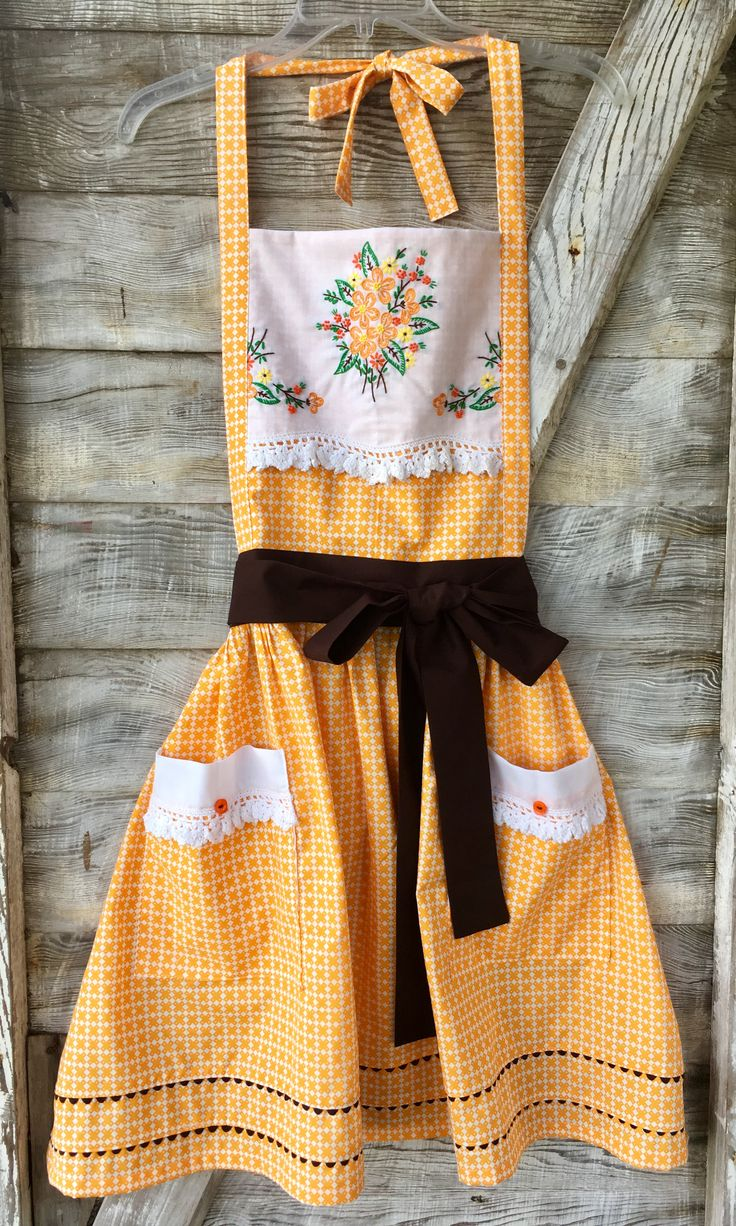 Flannel shirt apron   best Sewing images on Pinterest  Sewing ideas Sewing projects