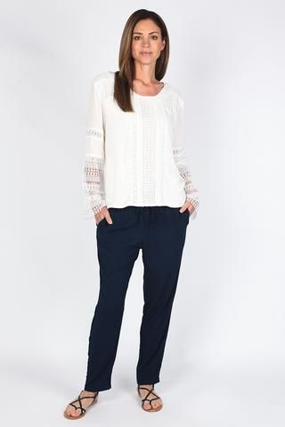 Venice Top from Surfing $129.95. Getting on board with the structured lace look.  The detailing on the sleeve makes this something special.