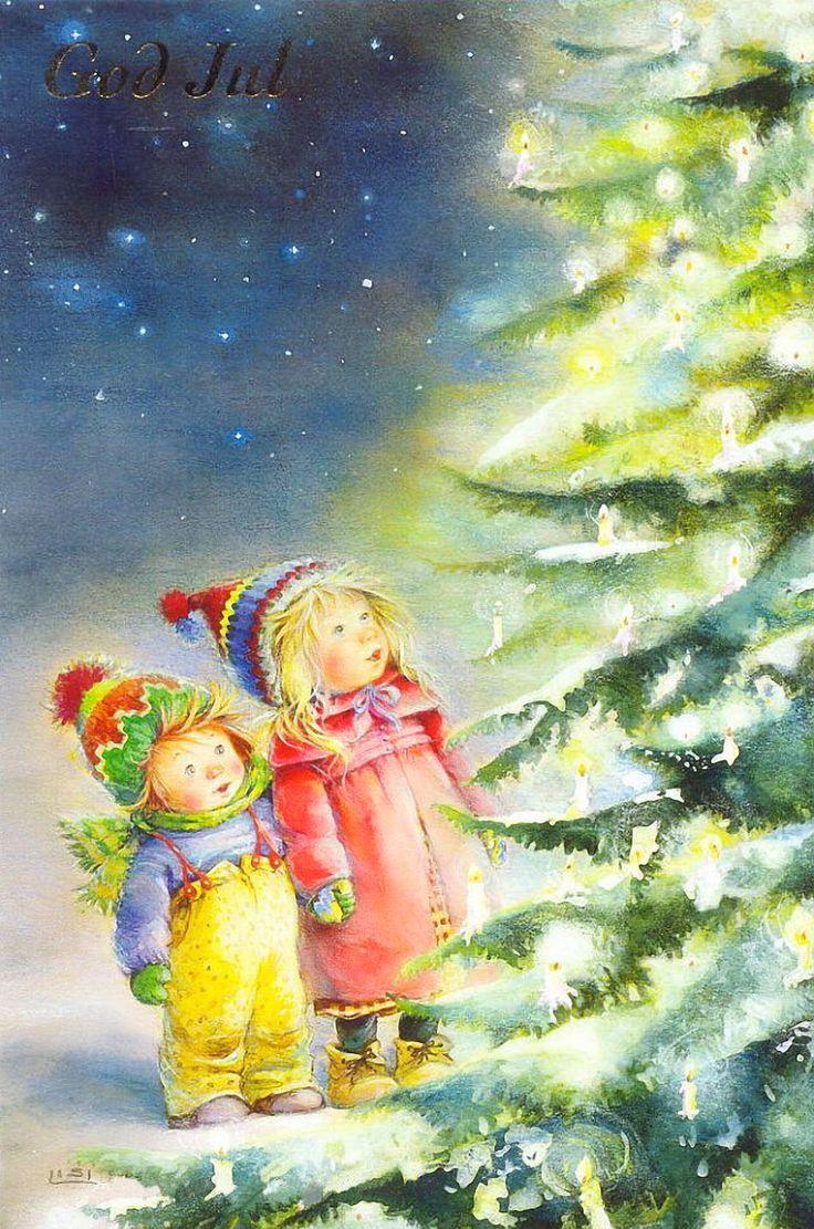 Открытки с новым годом и рождеством нарисованные