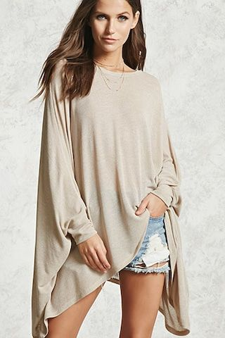 Oversized Marled Knit Top