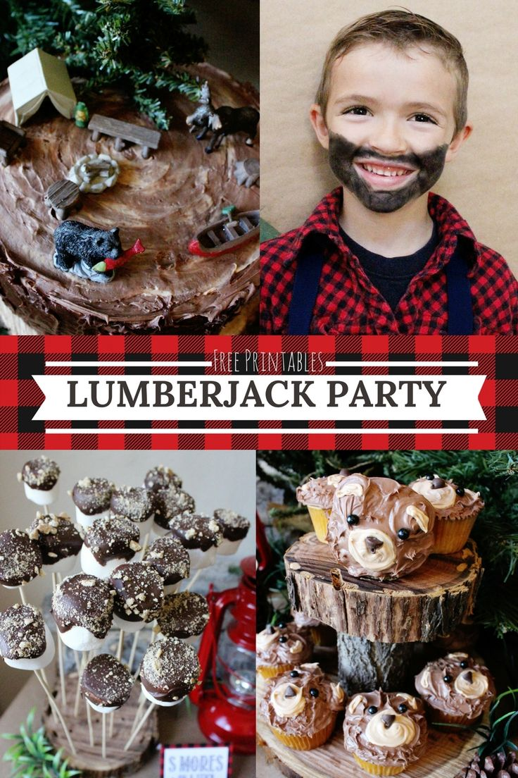 LUMBER JACK PARTY-  with all the FREE PARTY PRINTABLES you need