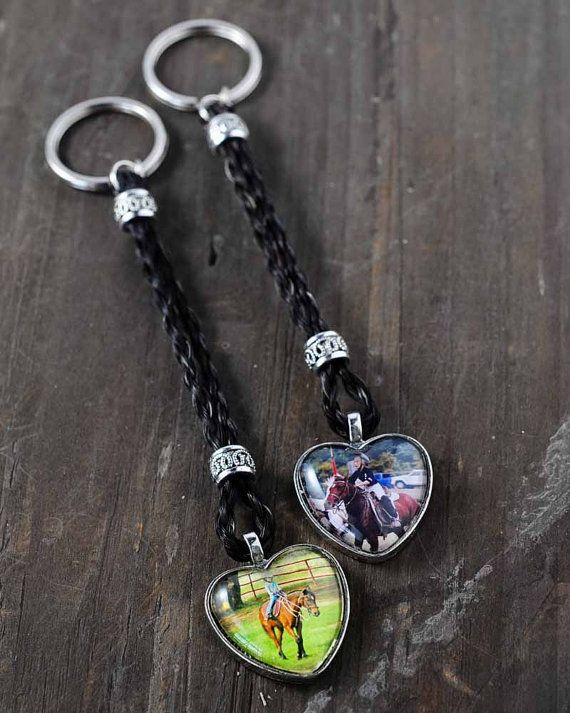 Personalized Horse Hair Key Chain | Horse Hair Jewelry | Unique Horse Lover Gift…