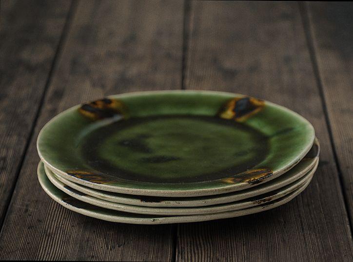 Oribe Plate by Norikazu Oe