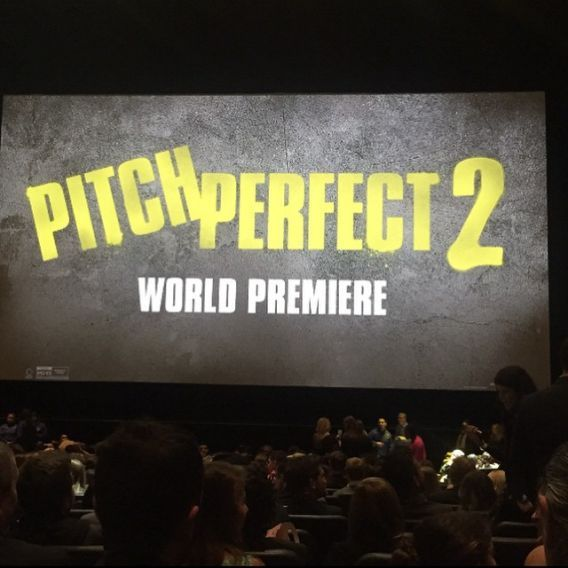 The view from Ester Dean's seat for #PitchPerfect2 is awesome.