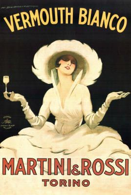 Marcello Dudovich Vermouth Bianco Martini and Rossi Art Print Poster