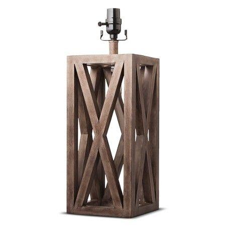 Washed Wood Box Lamp Base Large - Threshold™ : Target