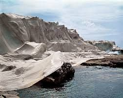 Image result for christo wrapped coast 1968 1969