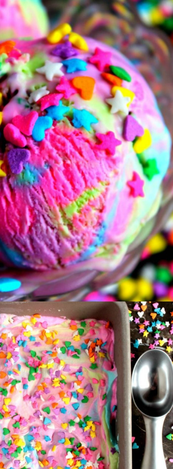 Sometimes you just need something a little wild and crazy like this yummy Unicorn Ice Cream from Big Bear's Wife to make you smile!
