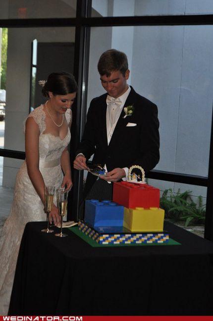 Hochzeitstorte aus Spielsteinen
