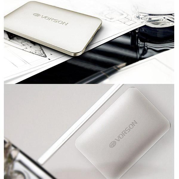 Silver Vorson KingKong 4000mAh Ultrath Power Bank Mobile Emergency Charger Pack - FG-Mall.com