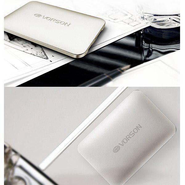 Silver Vorson KingKong 4000mAh Ultrath Power Bank Mobile Emergency Charger Pack - FG-Mall.com