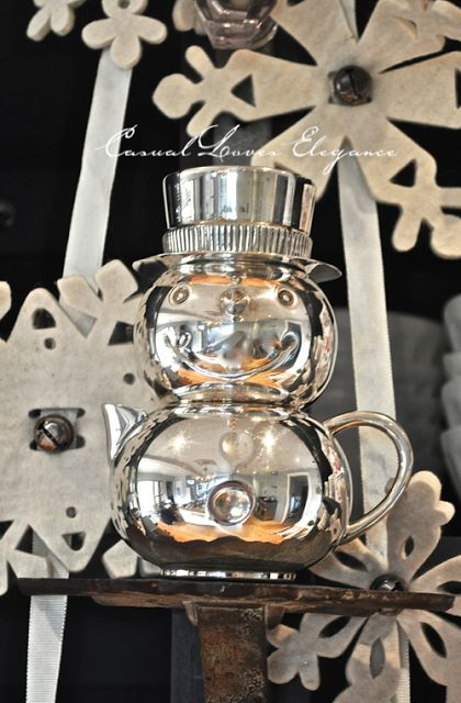 Casual Loves Elegance Cherishing memories with this silver snowman over cocoa with my boyz!