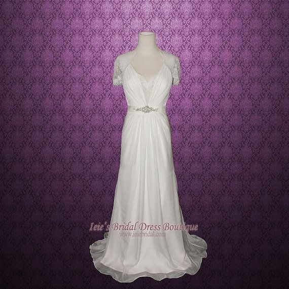 Aspen Retro Wedding Dress Vintage Wedding Dress Lace by ieie, $599.96