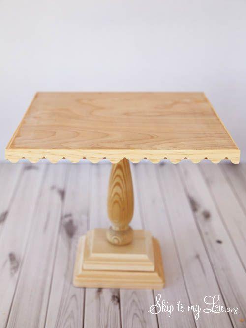 Wooden Cake Stand Tutorial Decoraciones De Mesa Arboles En La