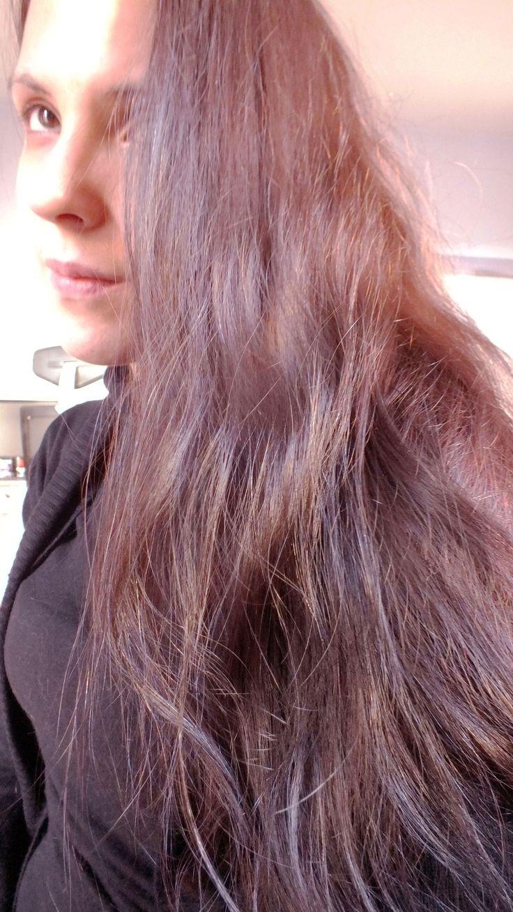 Color result after henné Radico cooper brown