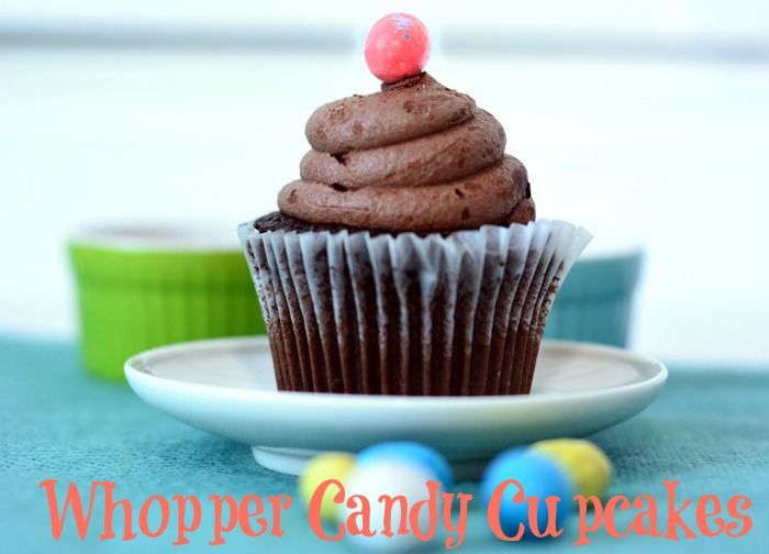 Life With 4 Boys: Whopper Candy Cupcakes - Use Up That Leftover Easter Candy! #recipe
