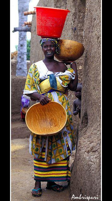 Fetching Water - Burkina Faso. Beautiful image. Not so beautiful reason for the job.