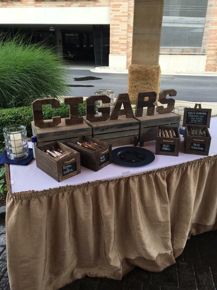 Cigar Bar at our wedding on 7/30/16
