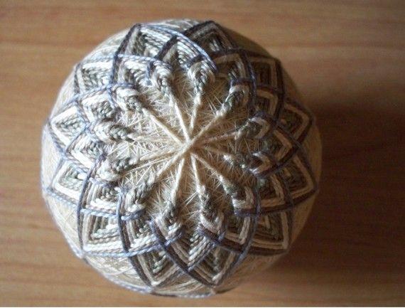 Au Natural Temari Ball by ShainasTemaris on Etsy, $40.00